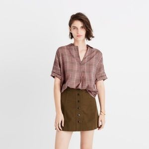 Madewell Courier Shirt in Hartley Plaid
